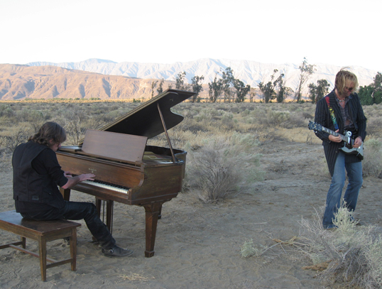 Keith & Marc performing for the video.